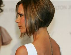 Victoria Beckham A-line Bob Hairstyle.for when I get sick of this long hair ; Aline Haircuts, Bob Haircuts, Short Hair Cuts, Short Hair Styles, Corte Y Color, Short Hairstyles For Women, Concave Bob Hairstyles, Edgy Hairstyles, Layered Hairstyle