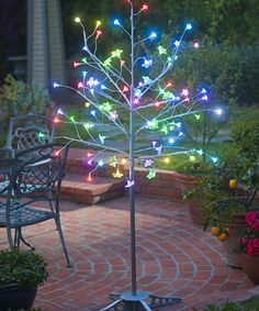 Love this Purple & Silver LED Tree on #zulily! #zulilyfinds
