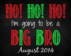Christmas Big Brother Pregnancy by QuotableCreations4U on Etsy