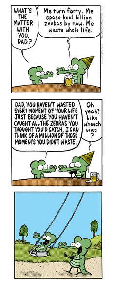 Pearls Before Swine. I consider comics art. and this one kinda hits home