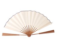 Traditional Chinese do it yourself hand fan to paint shodo caligraphy and sumi made of unprocessed shuen paper with bamboo handle