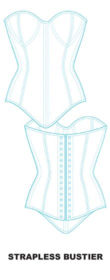 Ralph Pink - Free PDF corset patterns.