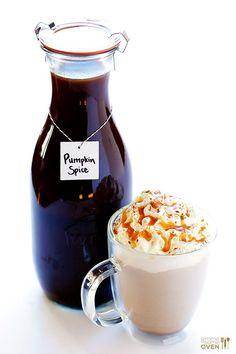 Homemade Pumpkin Spice Latte | gimmesomeoven.com