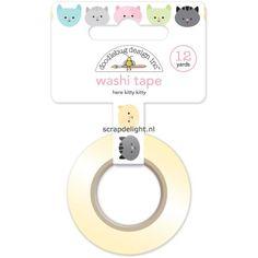 Doodlebug Kitten Smitten Washi Tape: Here Kitty Kitty