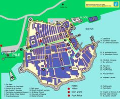 Dubrovnik Walking Map
