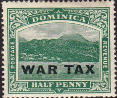Dominica 1916 War Tax SG 55 Fine Mint Scott MR1 Other Dominican Stamps HERE