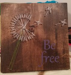 Dandelion string art by aSherThing on Etsy