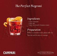 #Campari Negroni recipe