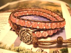 Beaded Wrap Bracelet Double Wrap Beaded by WrapBraceletsbyLynn, $19.50