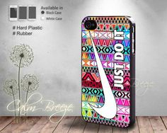 Aztec Colorfull Nike JustDo it - Print on Hard cover - Print on Rubber cover - iPhone 4/4s, 5 case - Samsung Galaxy S3, S4 case
