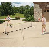The Instant Pickleball Court Set - Hammacher Schlemmer Outdoor Games, Outdoor Fun, Outdoor Activities, Backyard Games, Outdoor Ideas, Backyard Ideas, Tennis Nets, Play Tennis, Tennis Rules
