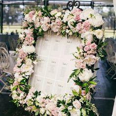 Gorgeous floral seating frame. #floral #floraldetail #seatingframe #seatingchart #roses #pink #white #wedding #weddingday #reception #celebration #styling #bride #bridal #bridalinspiration #inspiration #ideas #bridetobe #love #romantic #weddingplanner #followme