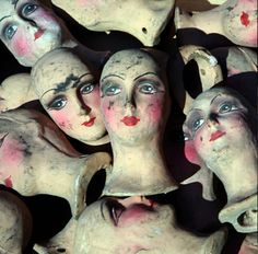 Not Your Average Second Hand Shop- Ceramic heads
