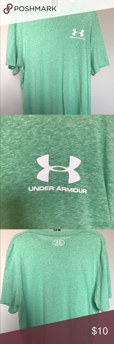 SPRING SALE ⚾️ UNDER ARMOUR LIGHT GREEN T SHIRT XL SPRING TRAINING SALE EVERYTHING MUST GO BY 2/10 ⚾️ PRICED TO SELL AND FIRM ! BUNDLE AND SAVE 15% ! LIGHT GREEN UNDER ARMOUR HEATGEAR TSHIRT LOOSE FIT WORN TWICE. GOOD CONDITION ! Under Armour Shirts Tees - Short Sleeve