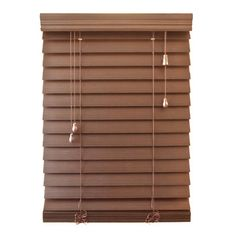 "Symple Stuff Premium Faux Wood Venetian Blind Size: 67.5"" W x 64"" L, Color: Maple"