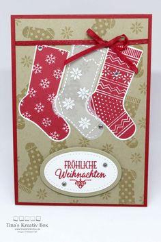 Weihnachtskarte  – Von den Socken - Mit Produkten von Stampin' Up!