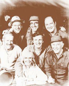 """MASH"" TV show M*A*S*H Cast 11"" X 14"" Sepia Poster Wild Bill's Nostalgia http://www.amazon.com/dp/B0091NZROG/ref=cm_sw_r_pi_dp_w.3Otb0JEG3A77WH"