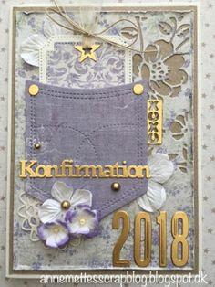 Anne-Mette´s scrapblog: Konfirmationskort 2018