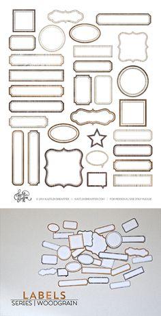 free label print & cut file | woodgrain #Silhouette