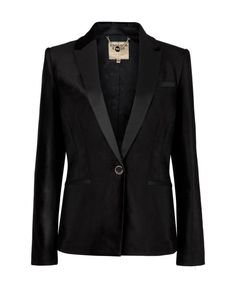 Tuxedo style velvet jacket - Black | Suits | Ted Baker