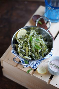 Green Beans with coconut-  simple Indian vegetarian dish.