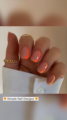 Chic Nails, Classy Nails, Stylish Nails, Simple Nails, Swag Nails, Manicure Y Pedicure, Gel Nails, Gradient Nails, Funky Nails