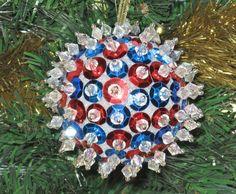 Beaded Christmas Ornament by juBEADlation on Etsy, $15.00