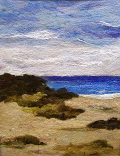No.586 Beach Too  Needlefelt Art XLarge by Deebs on Etsy