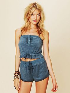 Terry Cloth Shorts and Crop Top  http://www.freepeople.com/whats-new/terry-cloth-shorts/