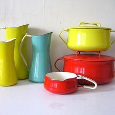Dansk Kobenstyle Enamel Collection - Kitchen #danskdesigns #dansk #enamelware #vintagekitchen