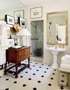 idée de salle de bain rétro