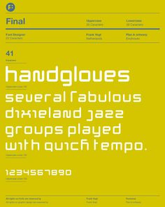 Final typeface. By Frank Vogt for Fontwerp Typefoundry