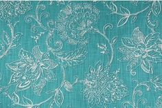 Richloom Benson Printed Linen Blend Drapery Fabric in Aegean $11.95 per yard