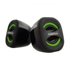 Omega OG115 to kompaktowych rozmiarów, atrakcyjnie wyglądające głośniki zasilane z portu USB. Głośniki zaskakują wysoką jakością i siłą dźwięku. Dzięki zasilaniu z portu USB głośniki nie przegrzewają się i nie wymagają osobnego zasilacza - co pomaga utrzymać porządek i jest wygodne w podróży lub podczas przenoszenia głośników. Z boku posiadają regulację głośności.  Produkt w kolorze czarno-zielonym.