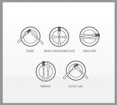 Table etiquette - interesting, I never knew this.