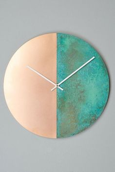 Geometria Wall Clock - anthropologie.com could totally diy this!!