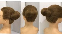 7 Beautiful Bun Hairstyles with One Rubber : Easy Hairstyles for Wedding, party or Function. How to make bun hairstyle easy hairstyles with gown, lehn. Wedding Hairstyles For Girls, Hairstyles For Gowns, Saree Hairstyles, Bun Hairstyles For Long Hair, Beautiful Hairstyles, Indian Hairstyles For Saree, Simple Hairstyles, Updo Hairstyle, Simple Hairstyle For Saree