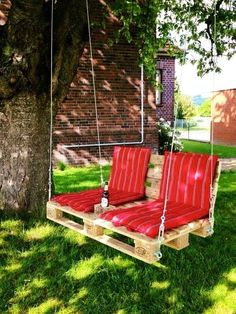 Schaukel aus Paletten - Garten ideen Schaukel aus Paletten Schaukel aus Paletten The post Schaukel aus Paletten appeared first on Garten ideen. Wooden Pallet Projects, Wooden Pallets, Outdoor Projects, Outdoor Decor, Diy Projects, Pallet Wood, Project Ideas, Diy Backyard Projects, Backyard Ideas On A Budget