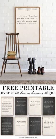 Amazing set of HUGE free printable book page quotes
