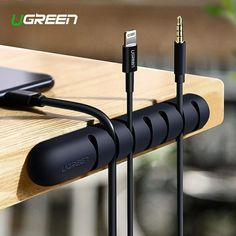 Ugreen Cable Organizer Silicone USB Cable Winder Flexible Cable Management Clips For Mouse Headphone Earphone Cable Holder (Discount 28 % ) Organizing Wires, Diy Organization, Usb, Digital Cable, Wire Storage, Cord Management, Cable Organizer, Desk Setup, Office Setup