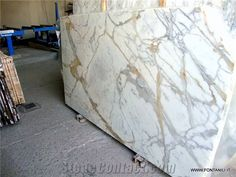 Calacatta Gold Marble Slab (Own Quarry) from Italy - StoneContact.com
