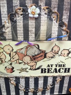 Card at the beach with this cute little by buttonsandbottles
