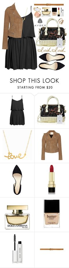 """Avber Bag"" by oshint ❤ liked on Polyvore featuring Boohoo, Handle, Minnie Grace, Maje, Nine West, Dolce&Gabbana, tarte, Butter London, Bobbi Brown Cosmetics and Judith Jack"