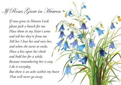 A5 Memorial Bereavement Grave Card Sister - If Roses Grow in Heaven & Freepost | eBay