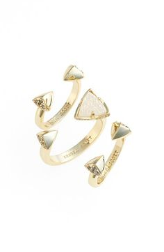 Kendra+Scott+'Brenan'+Spiked+Open+Ring+&+Midi+Rings+(Set+of+3)+available+at+#Nordstrom