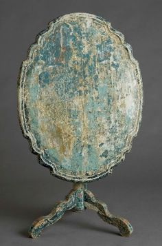 table- not only with obvious beautiful patina, but useful as a screen as well!