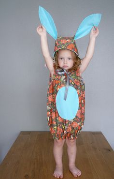 Bunny suit! Makes me think of Louise on Bob's Burgers. By Vintage Child Modern on Etsy.