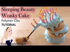Miniature Disney's Sleeping Beauty Aurora Wonky Cake - Polymer Clay TUTORIAL - YouTube