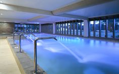 This luxury baby friendly hotel is set in the New Forest. The spa pool has 270 degree views of the stunning forest.   www.luxuryandlittleones.com