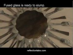 how to slump glass through a silverware drop ring - spoon flower bowl